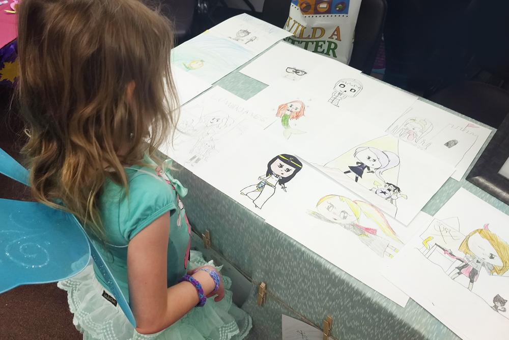 Hayden Library kids craft fair hand drawn illustrations