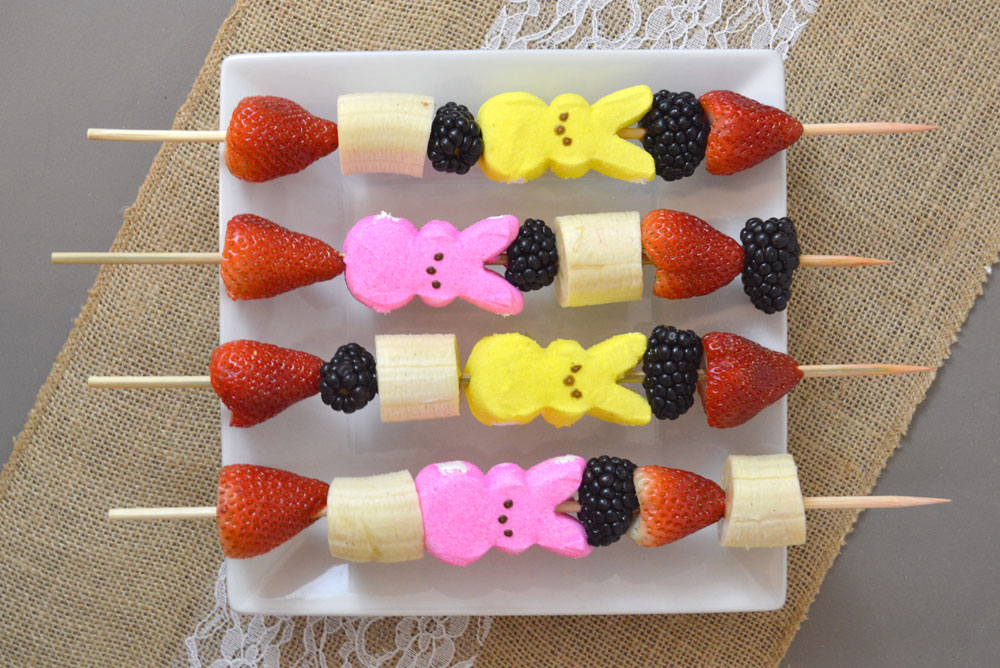 Creative Peeps Fruit Skewers Easter snack