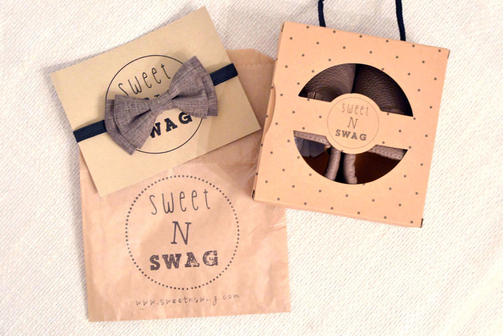 Sweet N Swag baby moccazins and bow ties - Mommy Scene review