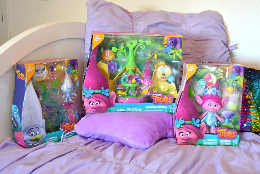 Trolls toy sets and Netflix animated show