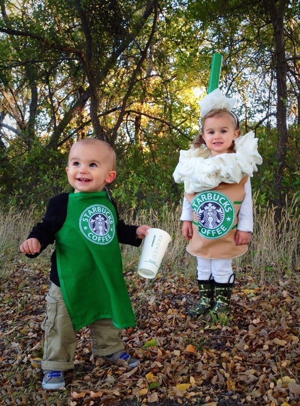 Baby and Toddler starbucks barist and frappuccino kids costumes