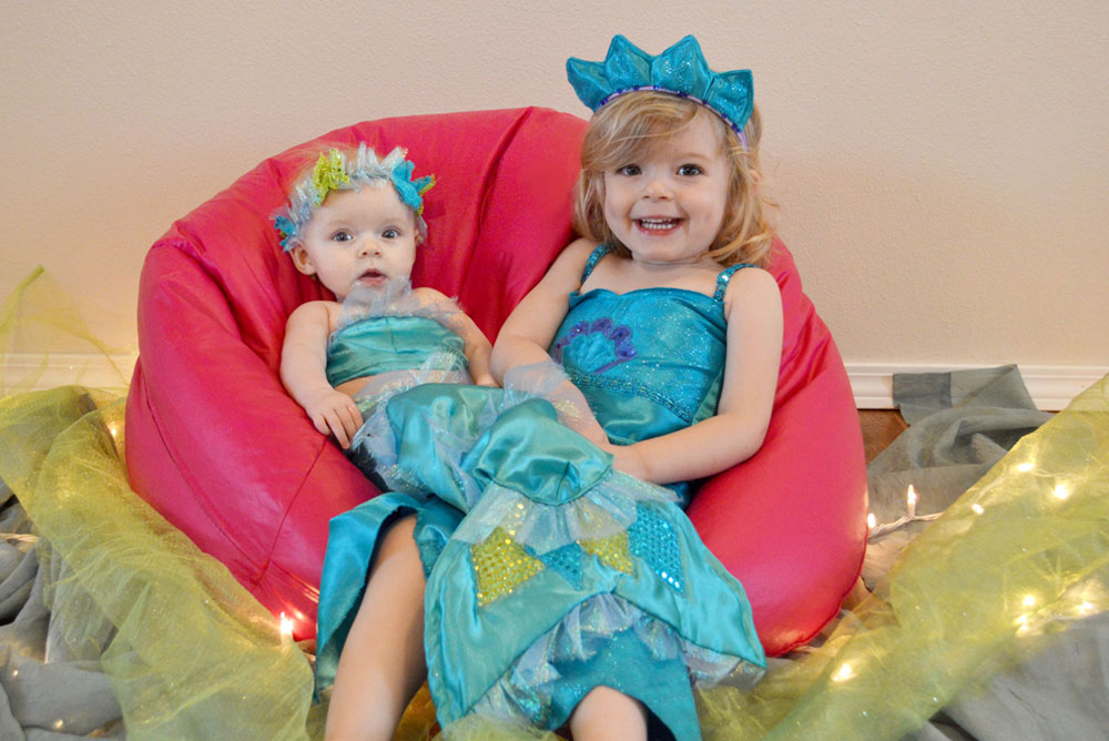Cute baby and toddler mermaid costumes