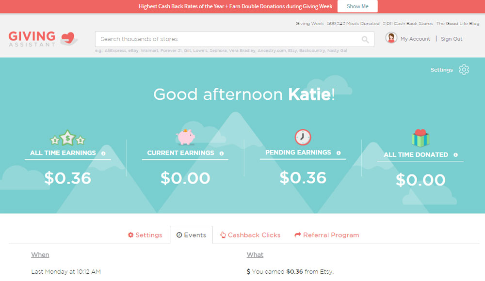 Turn your Spending into cash earnings with Giving Assistant - Mommy Scene