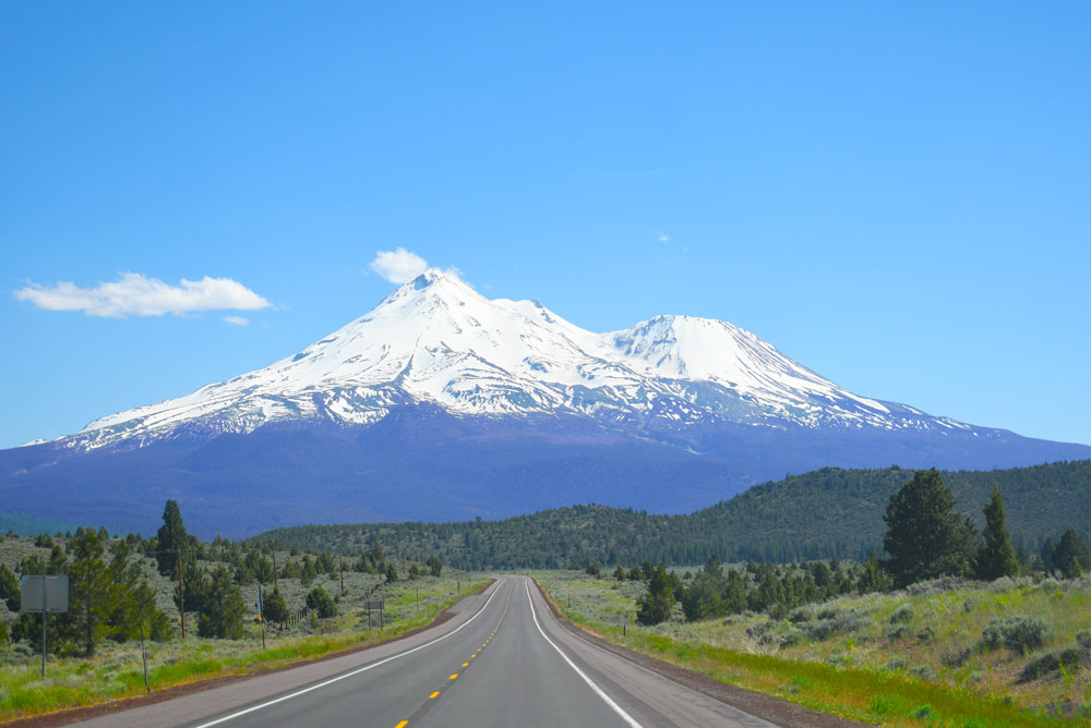California family adventure road trip Mount Shasta