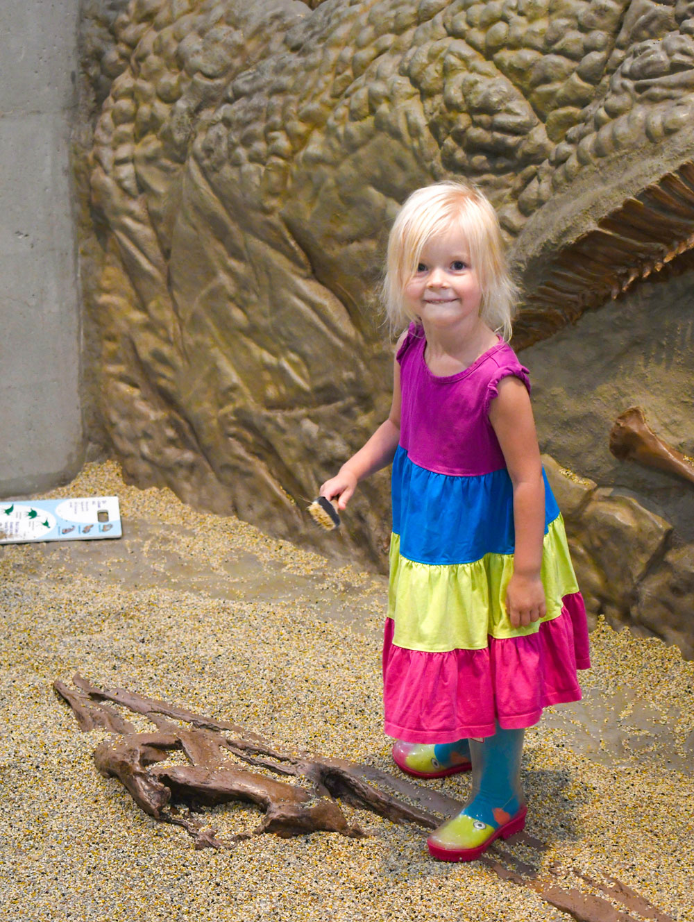 Denver Museum of Nature and Science Kids Discovery Zone archaeology dig play area