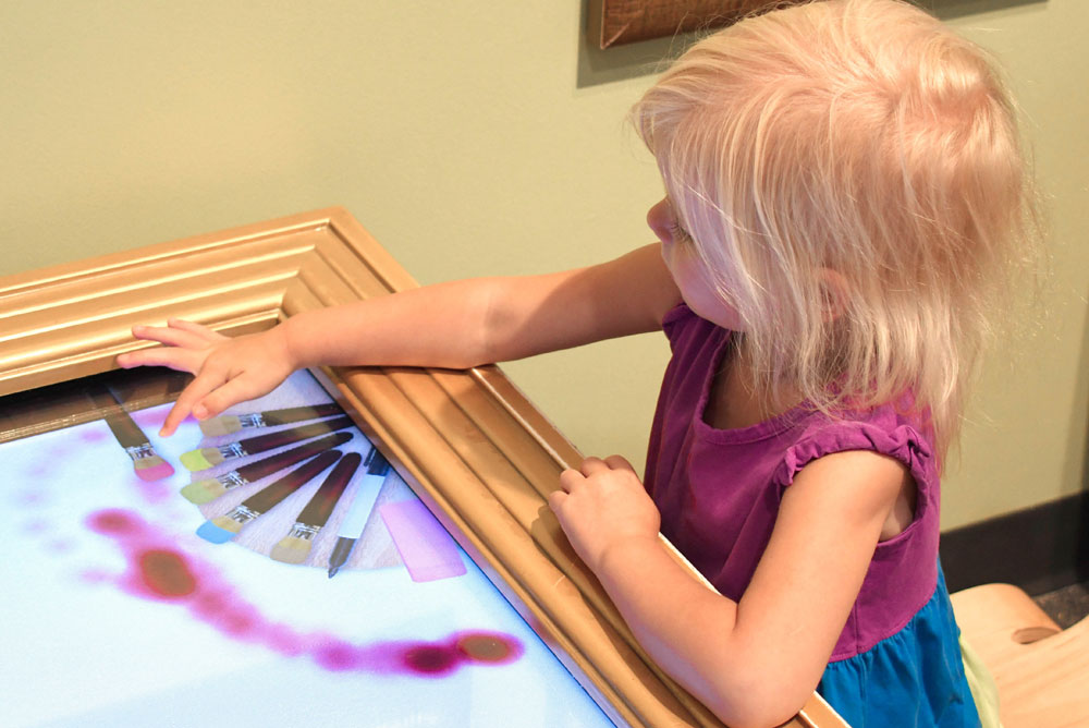 Denver Museum of Nature and Science Kids Discovery Zone digital drawing board