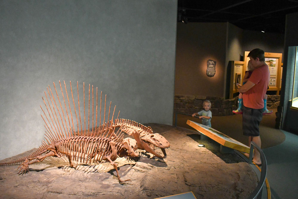 Denver Museum of Nature and Science family visit Prehistoric Journey exhibit