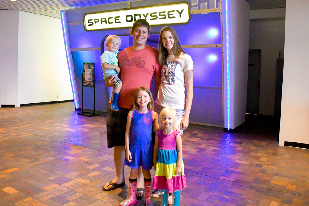 Denver Museum of Nature and Science family visit Space Odyssey