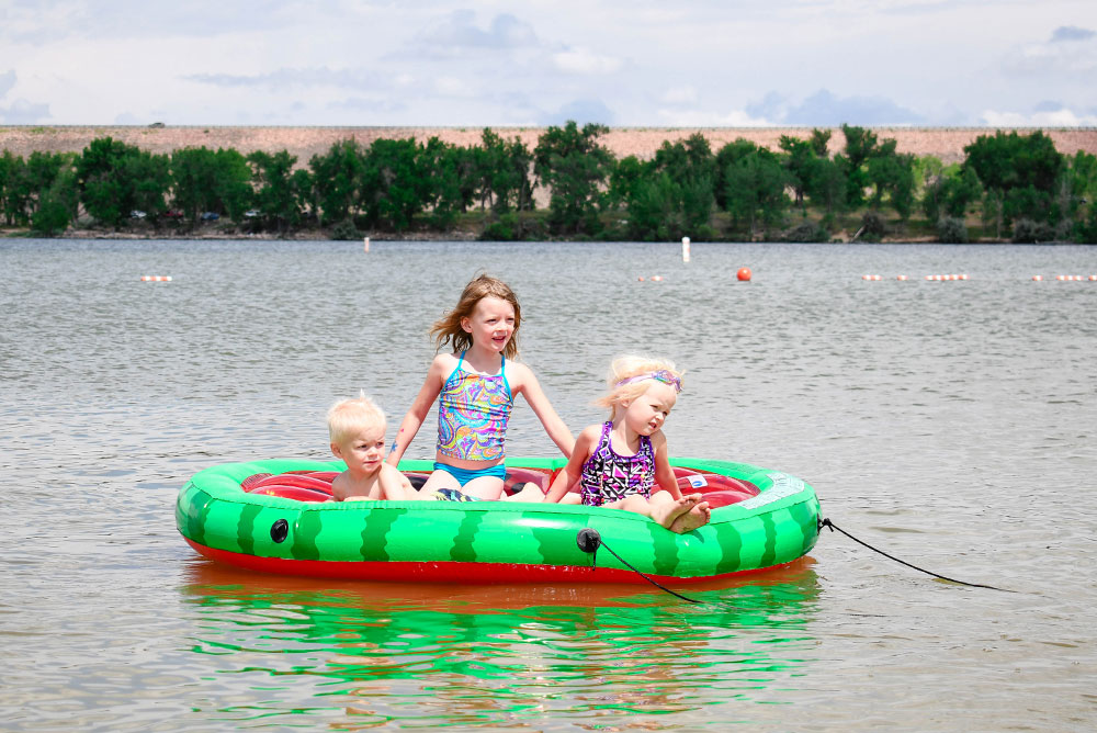 Summer family fun with pool inflatables