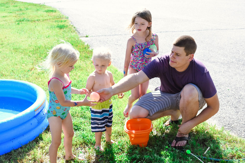 Water balloons are a fun summer activity for kids