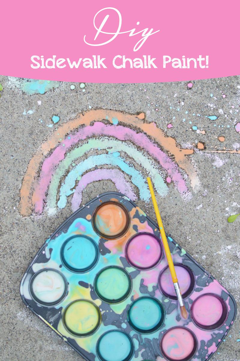 DIY Sidewalk Chalk Paint interactive kids preschool activity