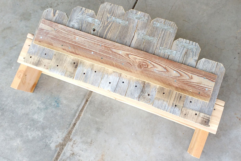 DIY Wooden Fence Board Bench how to