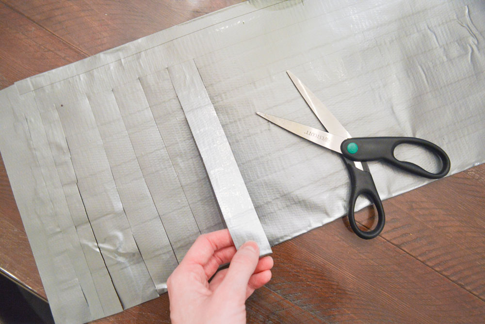 Easy DIY Kid's Duct Tape Skirt craft project