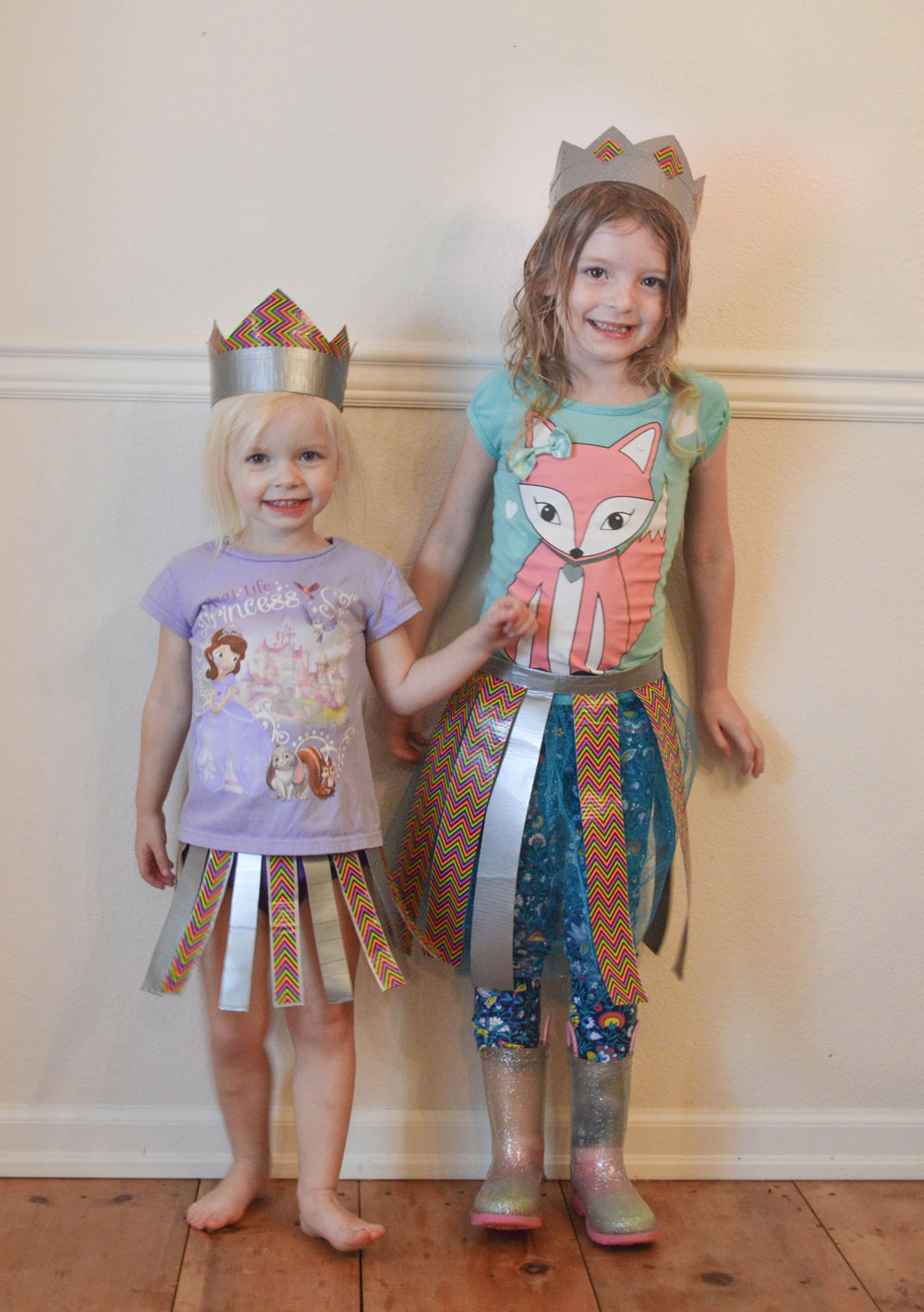 Creative and Easy Kids' Duct Tape Skirt Craft
