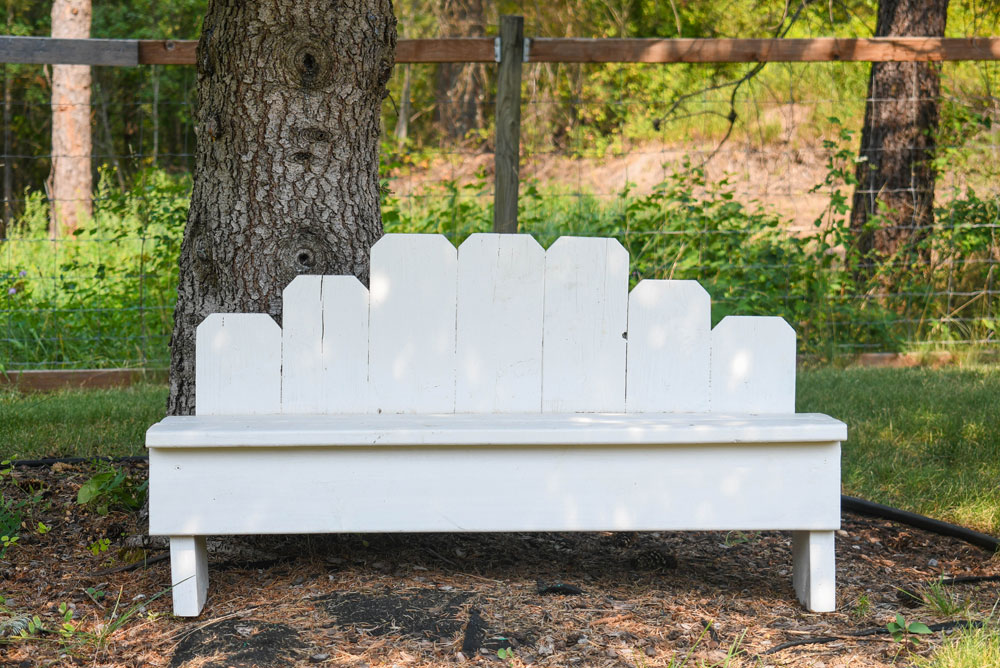 Custom Re-purposed Fence Board Bench