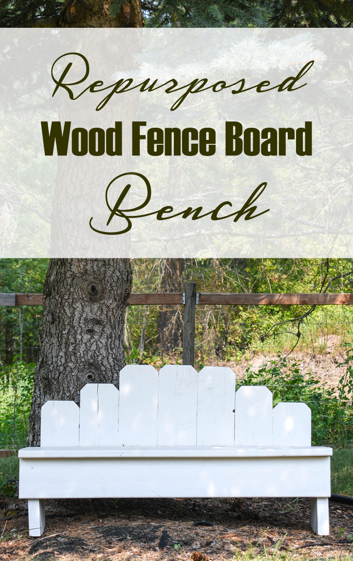 Easy repurposed wood fence board bench