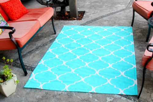 How to make a canvas rug from painters drop cloth