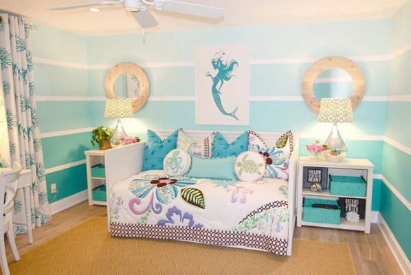 Mermaid Inspired Child's Room - Mommy Scene