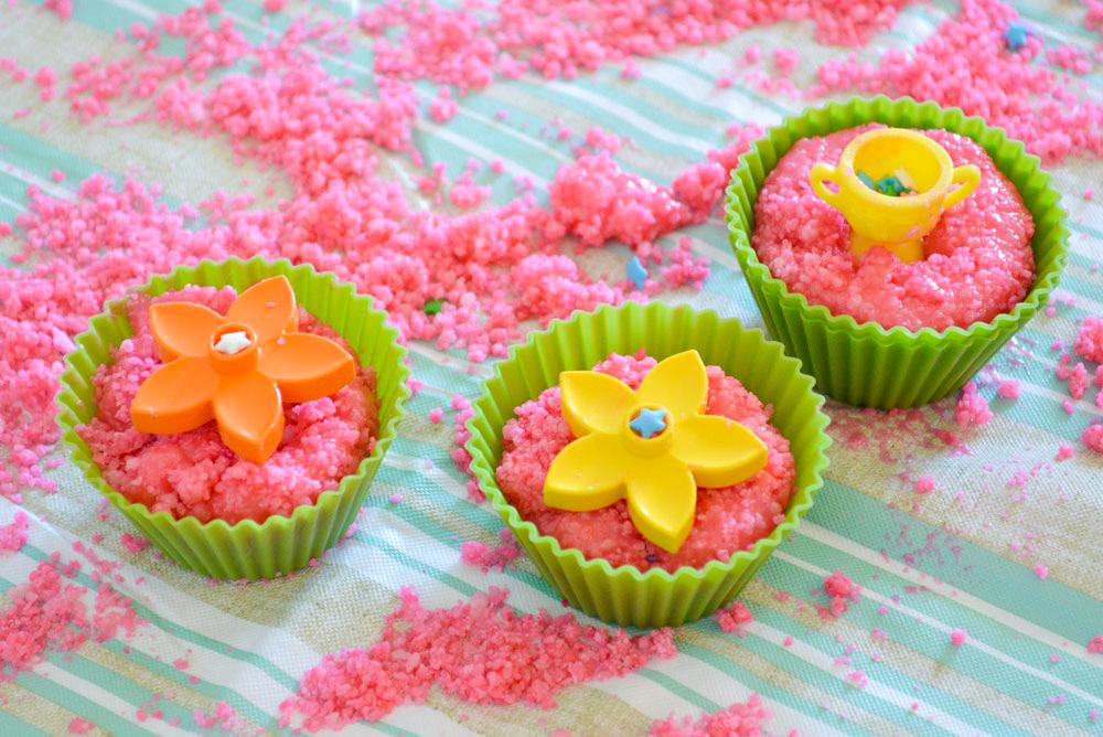 Homemade sugar sand cupcakes