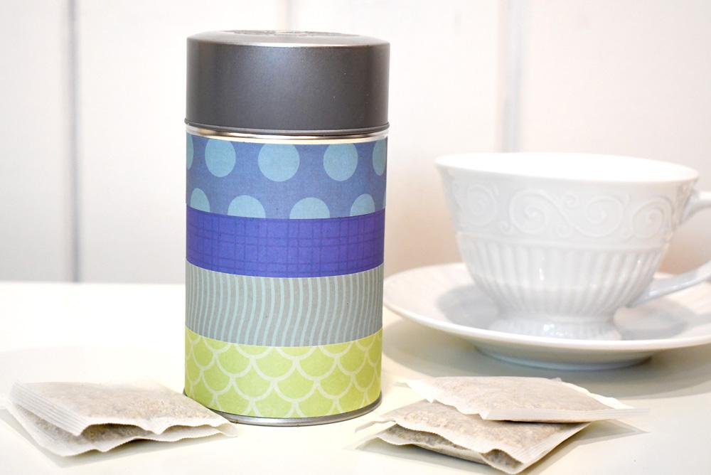 DIY gift ideas scrapbook paper tea canister