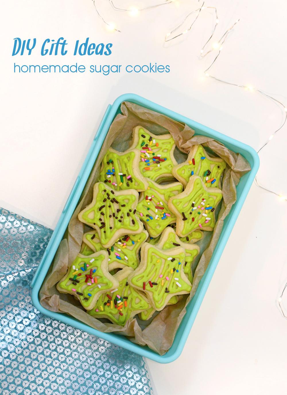 DIY Gift ideas homemade star sugar cookies