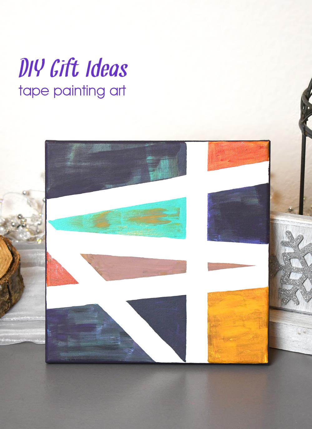DIY gift ideas tape painting art