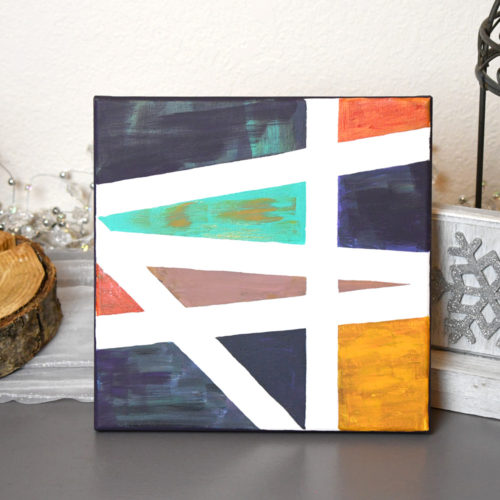 Simple & Creative DIY Gift Ideas - tape painting art