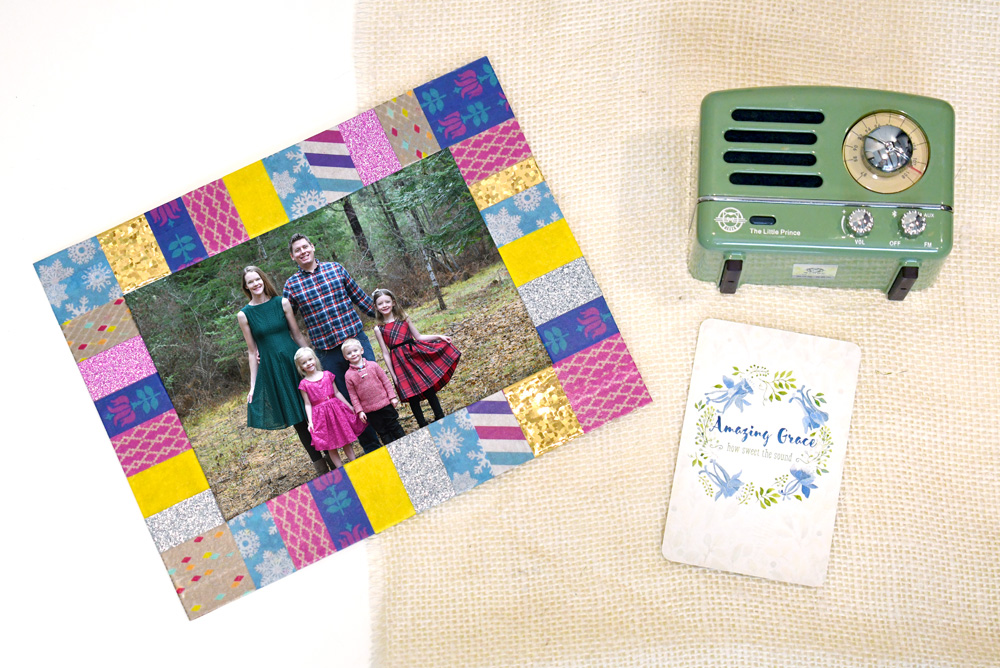 DIY gift ideas washi tape photo frame