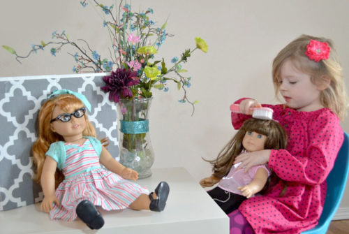 Fun with American Girl Dolls - Mommy Scene