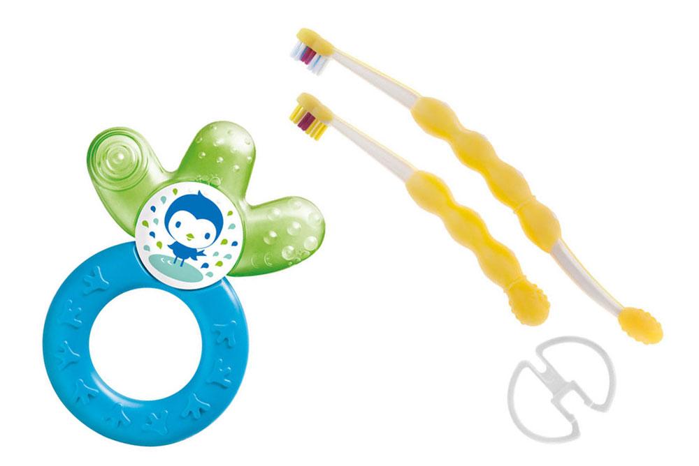 MAM Cooler Teether & Baby Brush Set