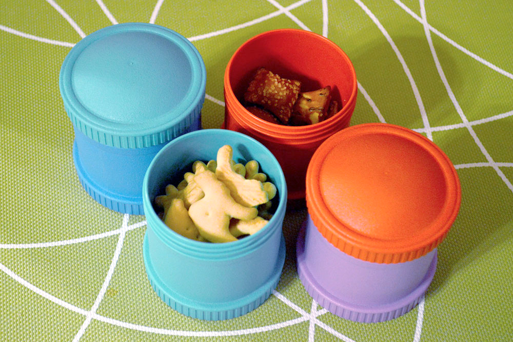 Colorful Re-Play Snack Stacks for Kids
