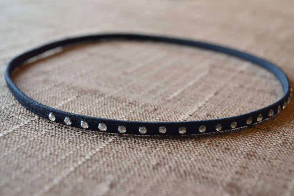 DIY elastic rhinestone headbands