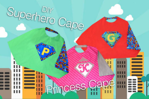 How to Make Do It Yourself Superhero Capes - Mommy Scene