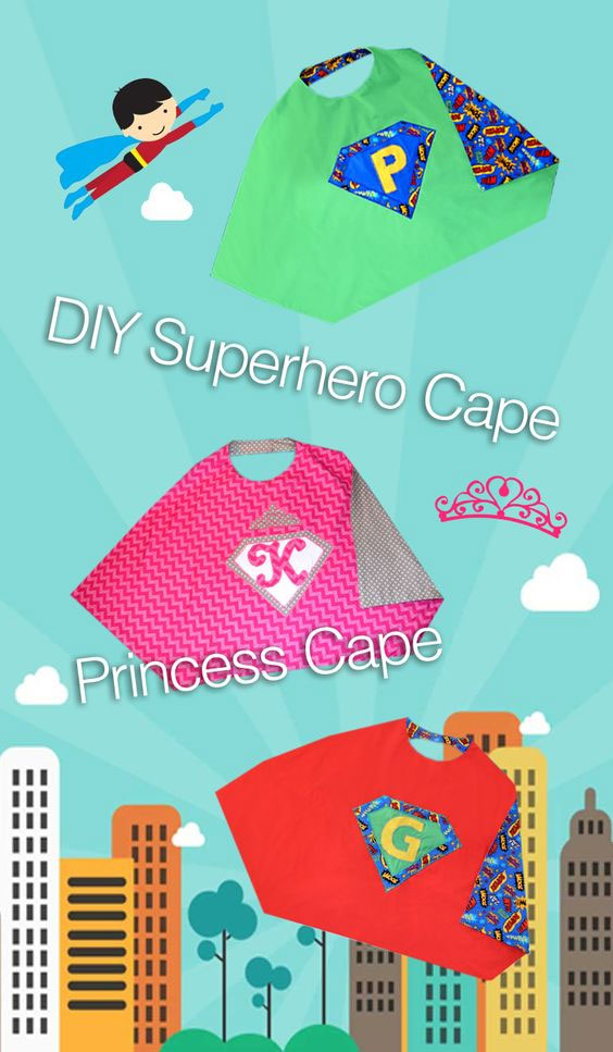 How to make kids' superhero capes - Easy sewing project