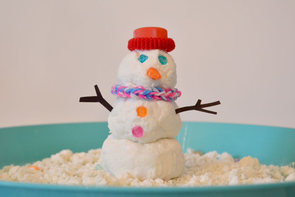Homemade Sensory Snow Activity