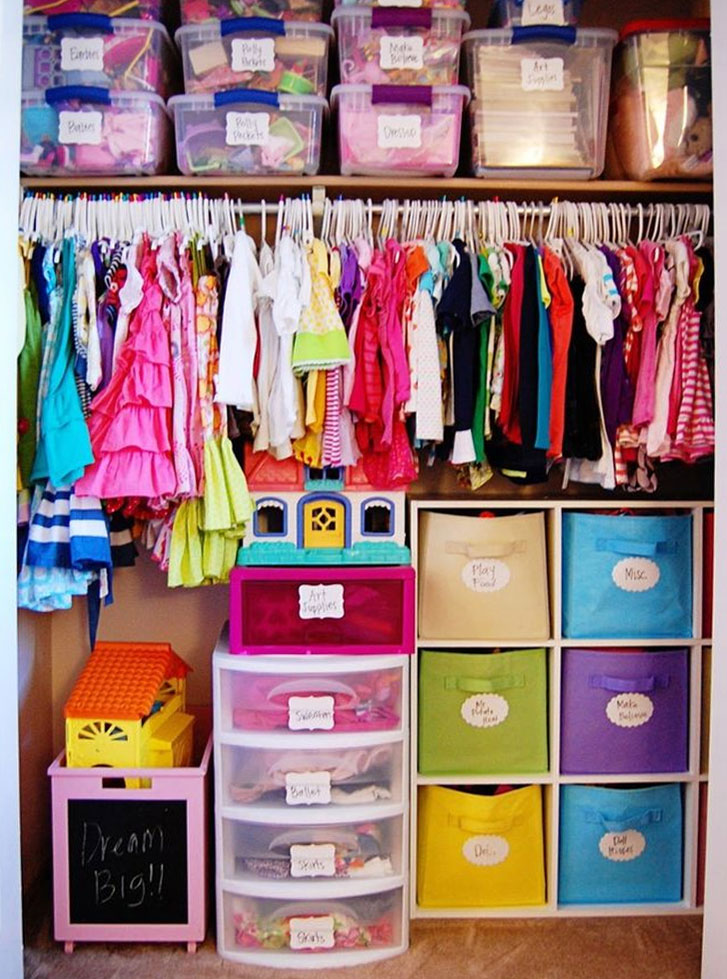 How to organize baby clothes with storage bins