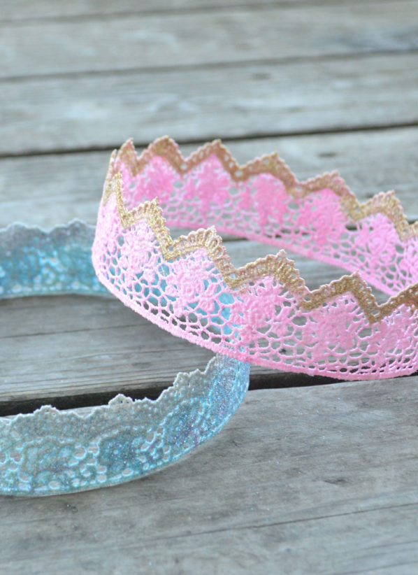 How To Make Lace Princess Crowns