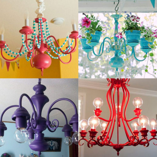 Make a Colorful Chandelier