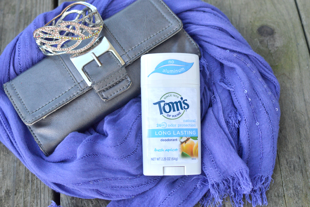 Keep Tom's of Maine long lasting deodorant in your purse