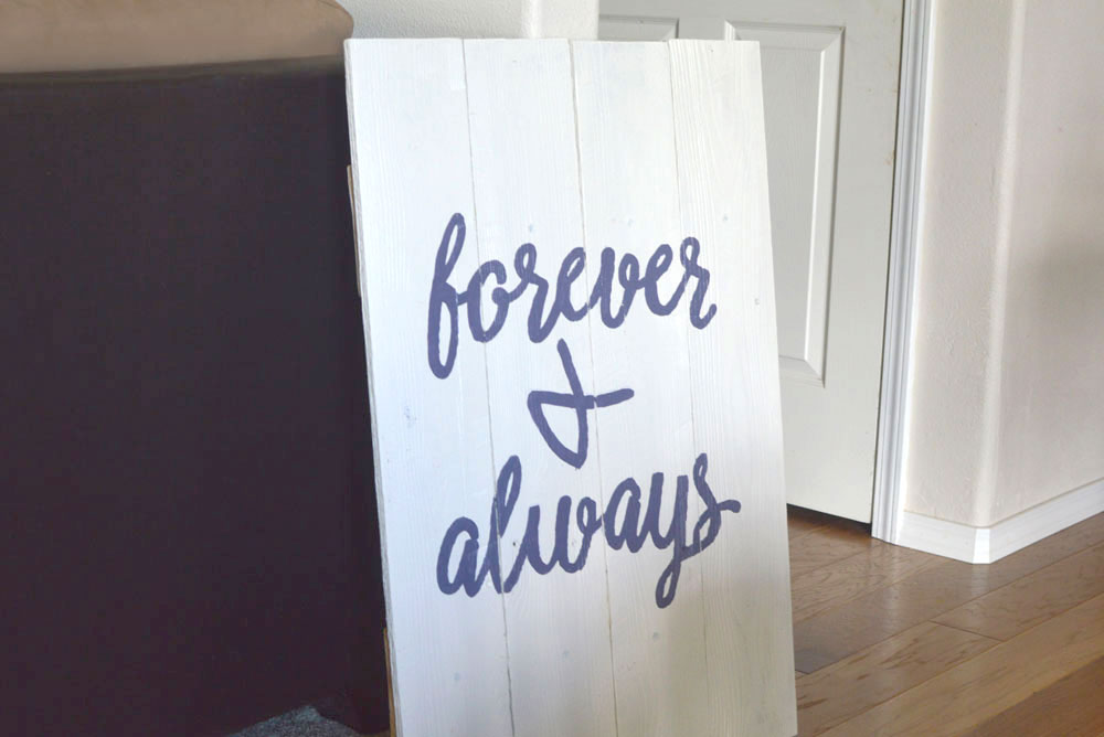 Shabby Chic Forever and Always DIY Wood Wall Art design