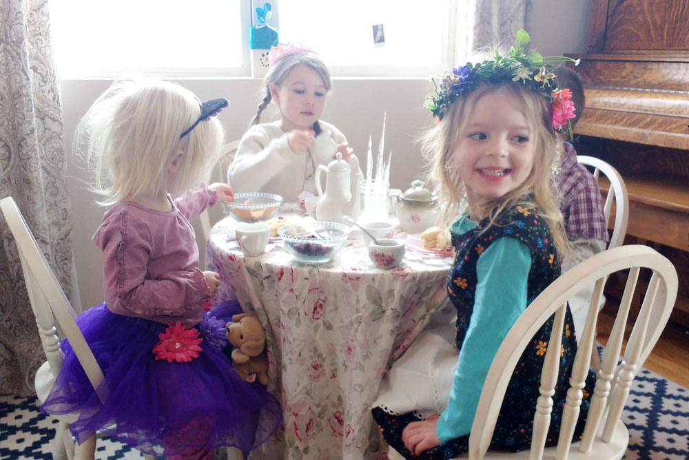 Snowflake Tea Party, Kids' Art Projects & Cozy Gear