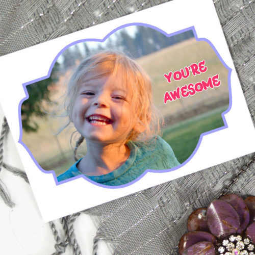 DIY Kids Photo Valentines + Printables
