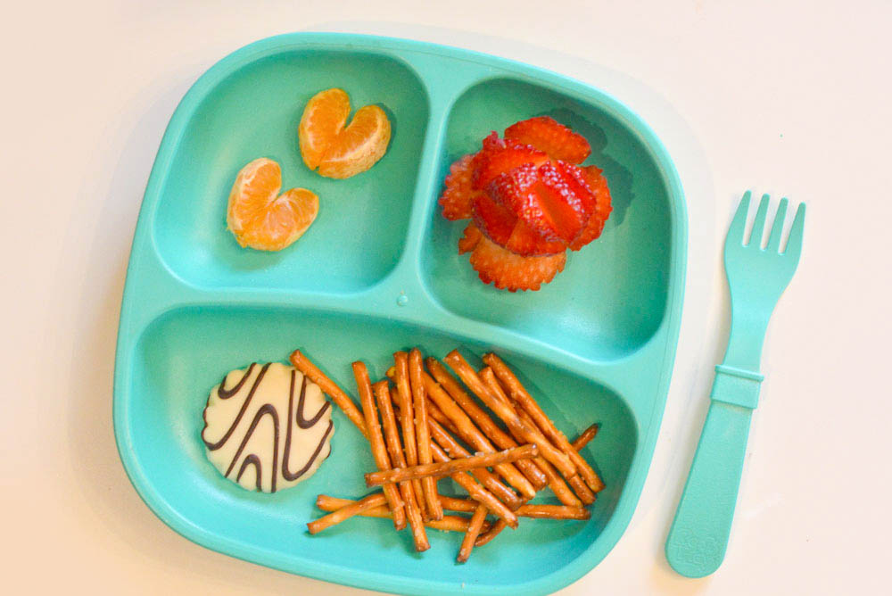 Lunch ideas for kids - orange hearts and strawberry roses