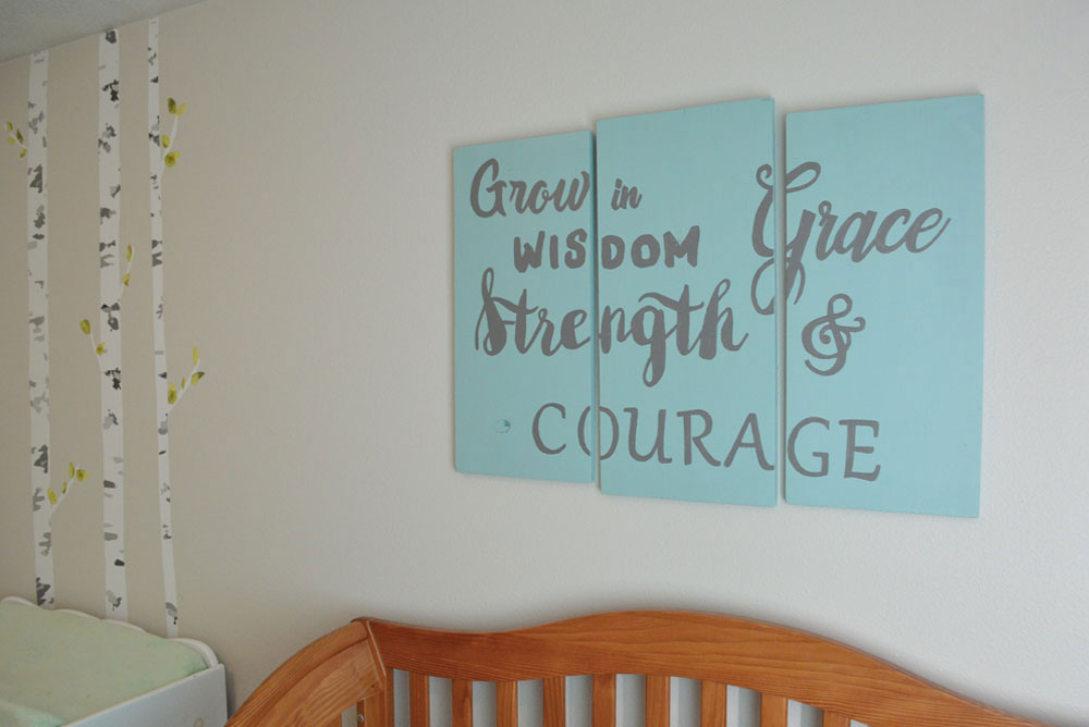DIY wood wall art for a baby's nursery