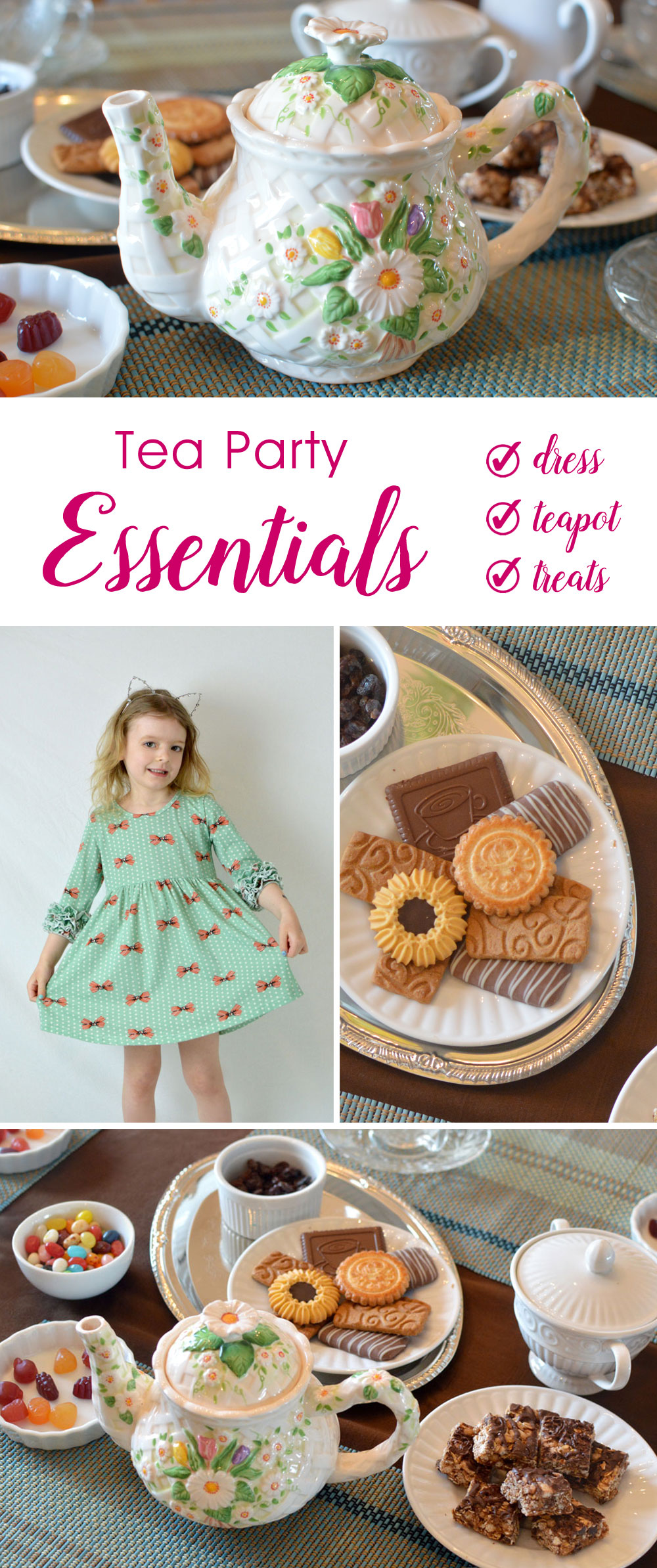 Essentials for any tea party and creative kids snacks