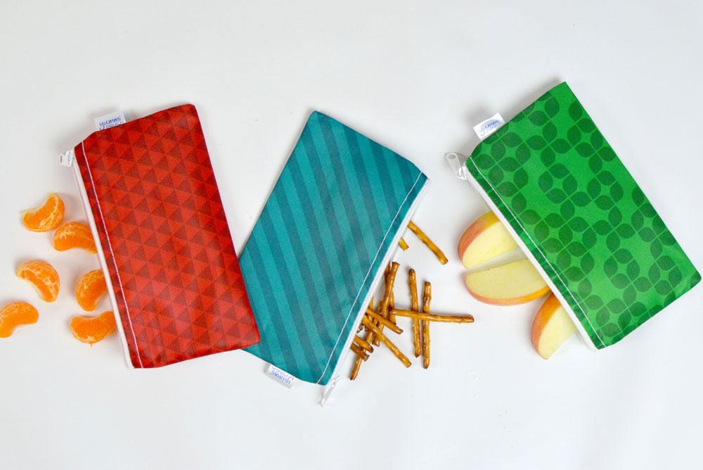 Yummi Pouch jewel print cloth snack bags by Revelae Kids