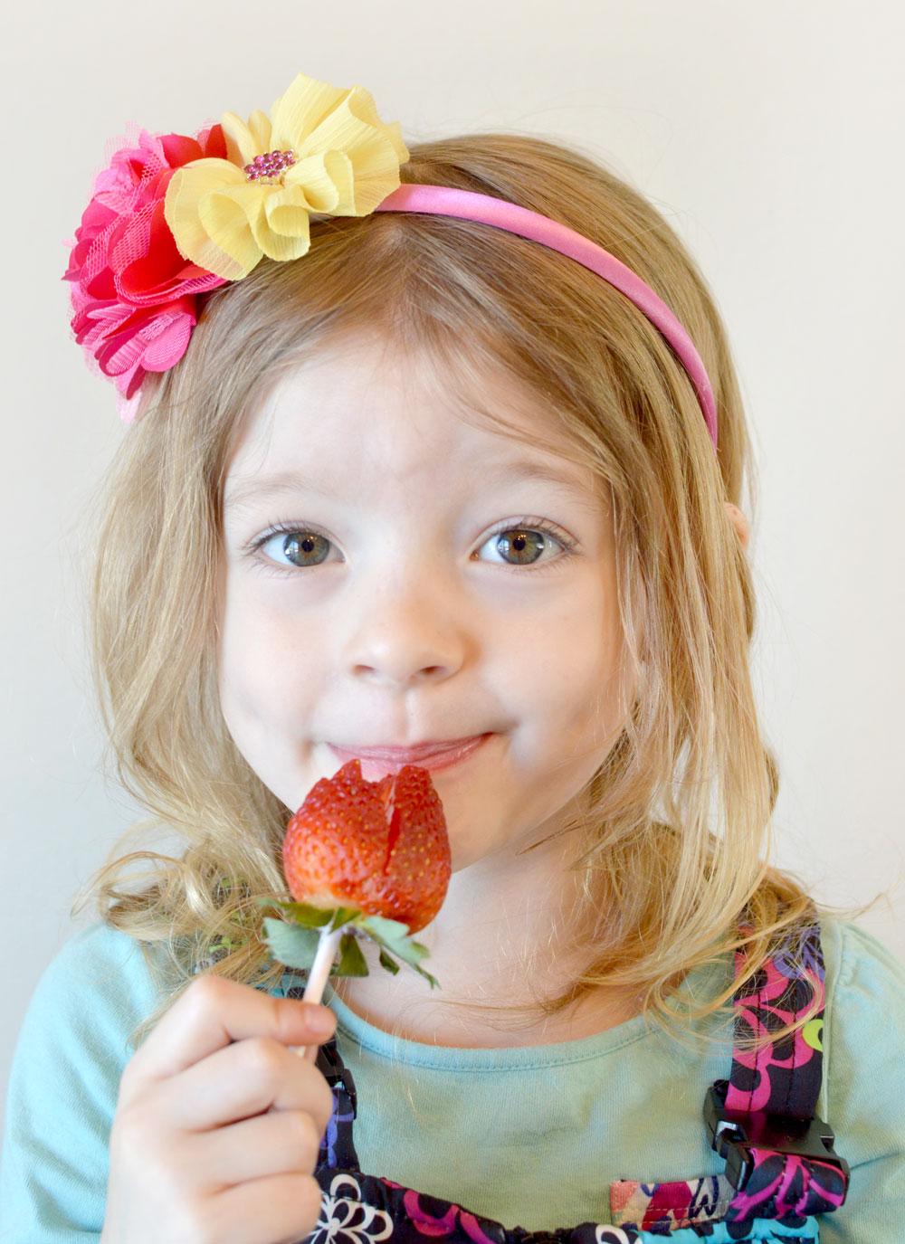 Yummy Strawberry Roses cute kids snacks