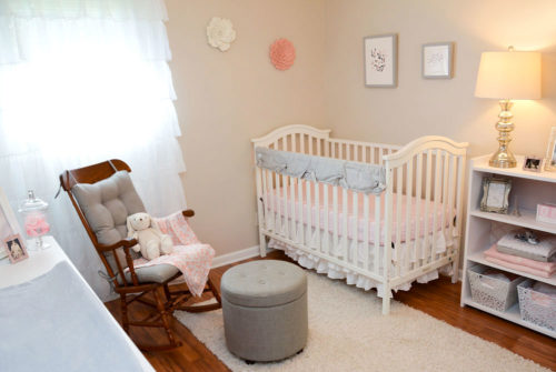 Baby Girl Nursery Tour - Mommy Scene - Pink, white and gray themed nursery