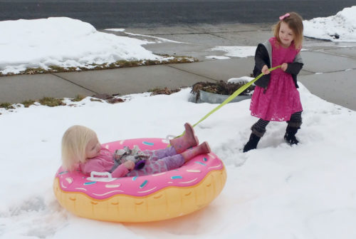 Big Mouth Doughnut snow tube and fun kids' winter activities - Mommy Scene