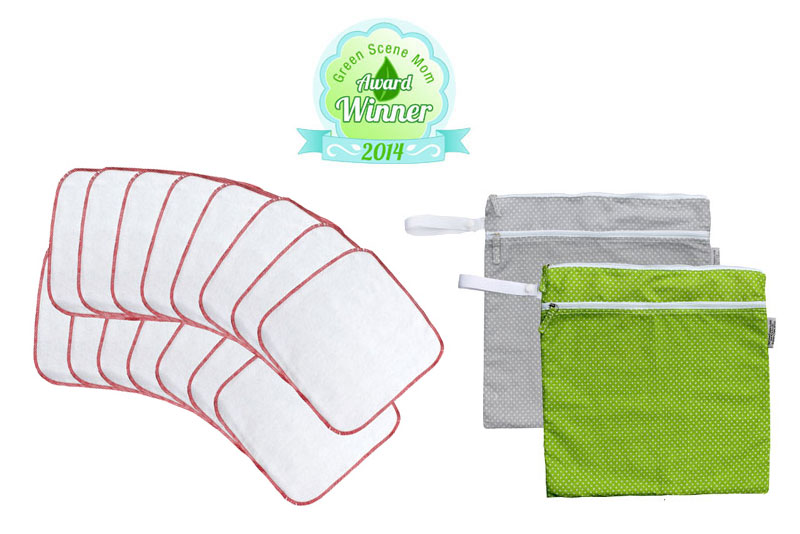 Buttons Diapers Flannel Wipes & Wet Bags